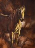 a tan horse