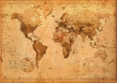 map-of-world-antique