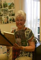 Sandra Lee Cleary reading at senior center 2017