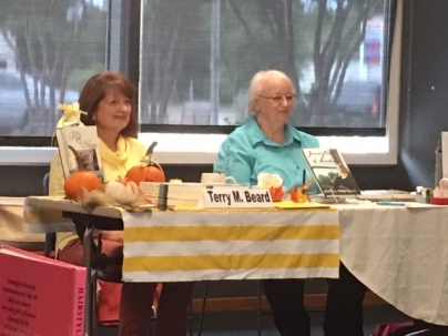 Terry and Cathey at book signing at Schertz library Oct 2019