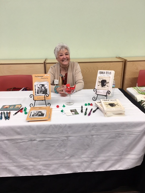 Sandra book sales at UC library 2019
