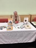 Sandra book sales at UC library 2019