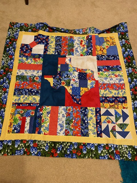 My finished bluebonnet quilt 2020