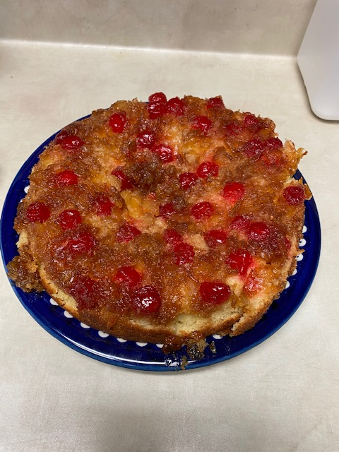 My pineapple upside down cake